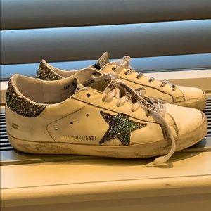Golden goose rainbow sneakers